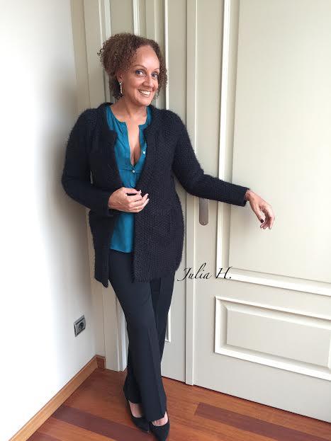 cardigan blusa azul 1